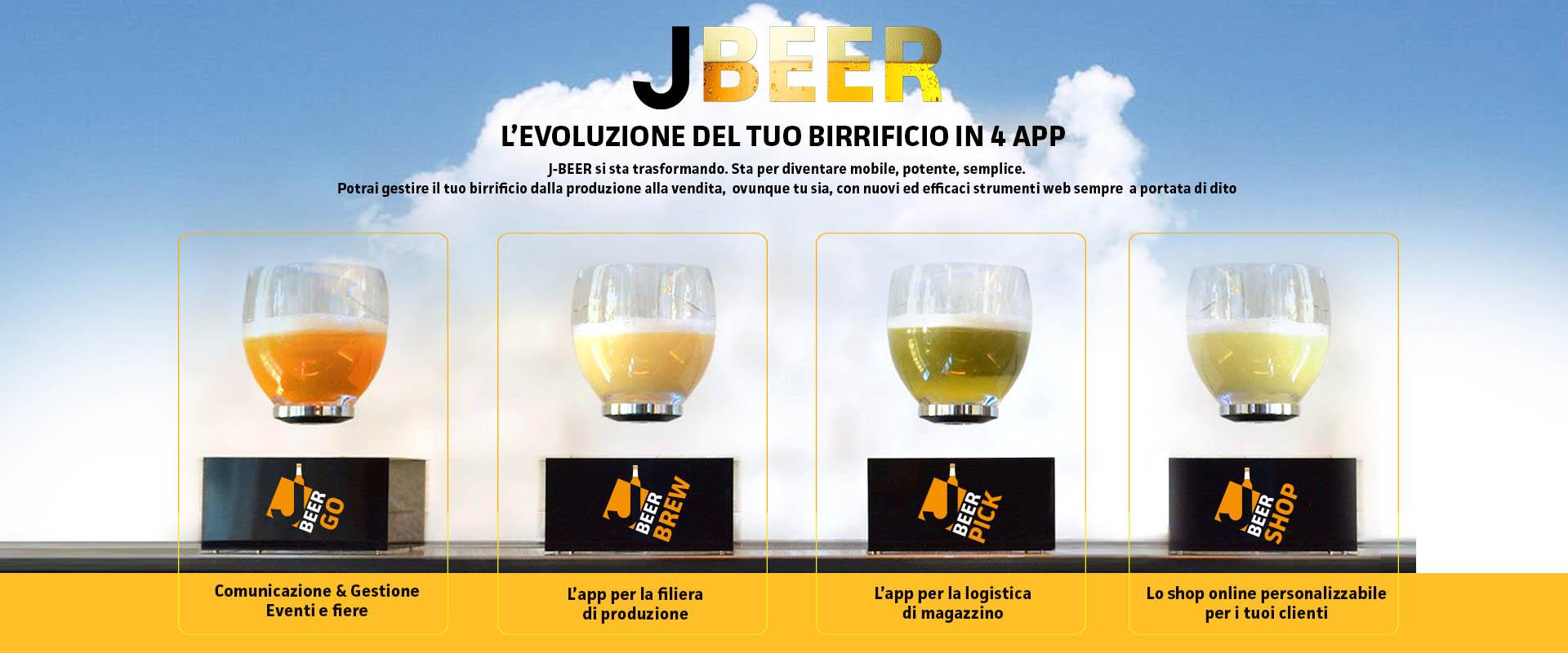 gestionale telematico j-beer - app per il birrificio j-software